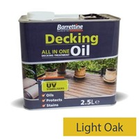 Barrettine 2.5L Light Oak Decking Oil All In One Treatment